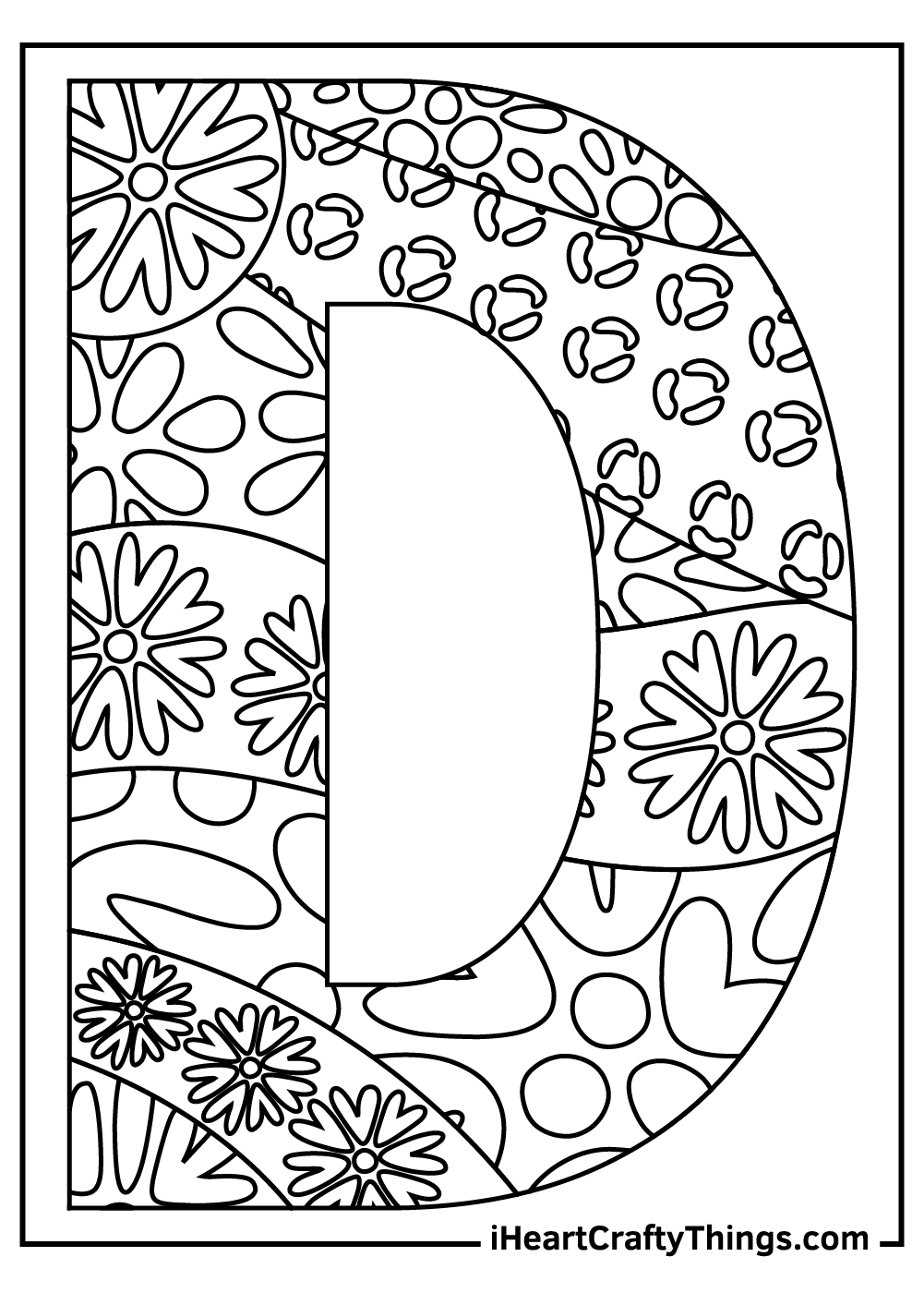 letter d coloring pages free download for kids