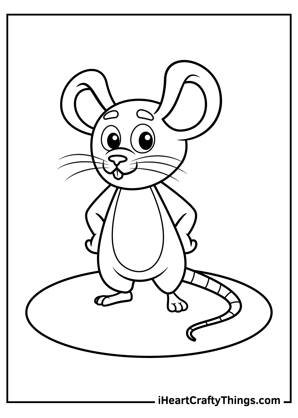 cute mouse coloring pages free download