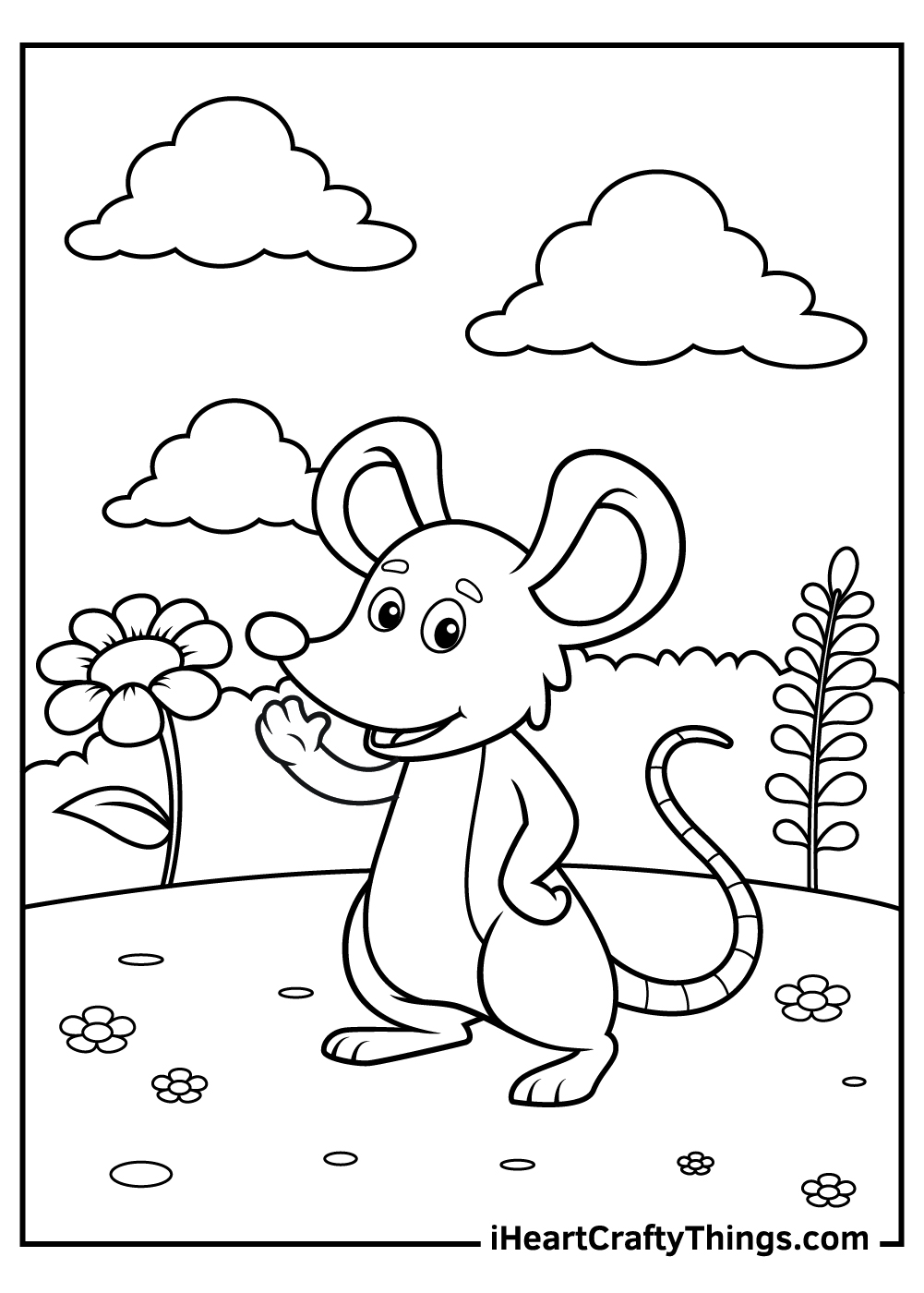 disney mouse coloring pages free print out