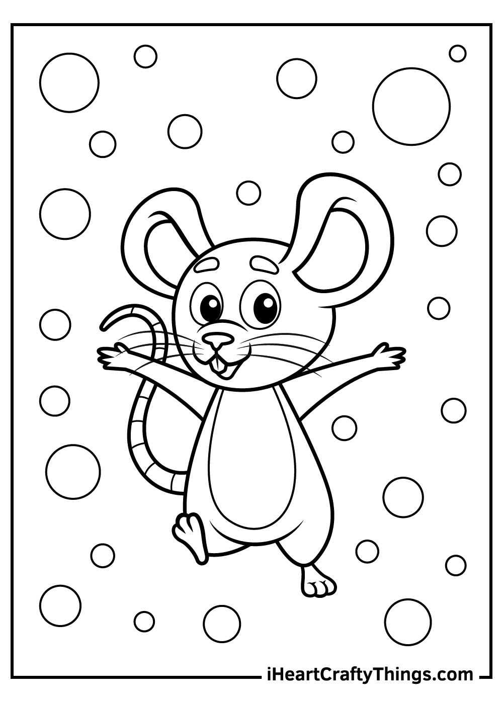 kids mouse coloring pages free printable