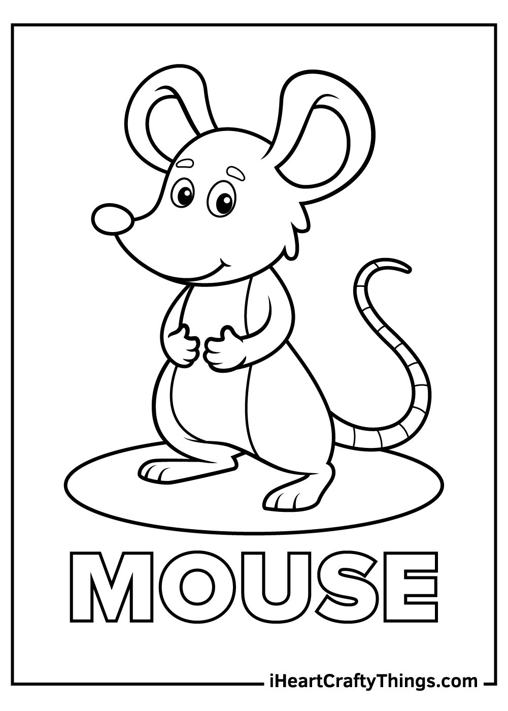 3 blind mice coloring pages