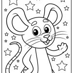 mice coloring images free printable