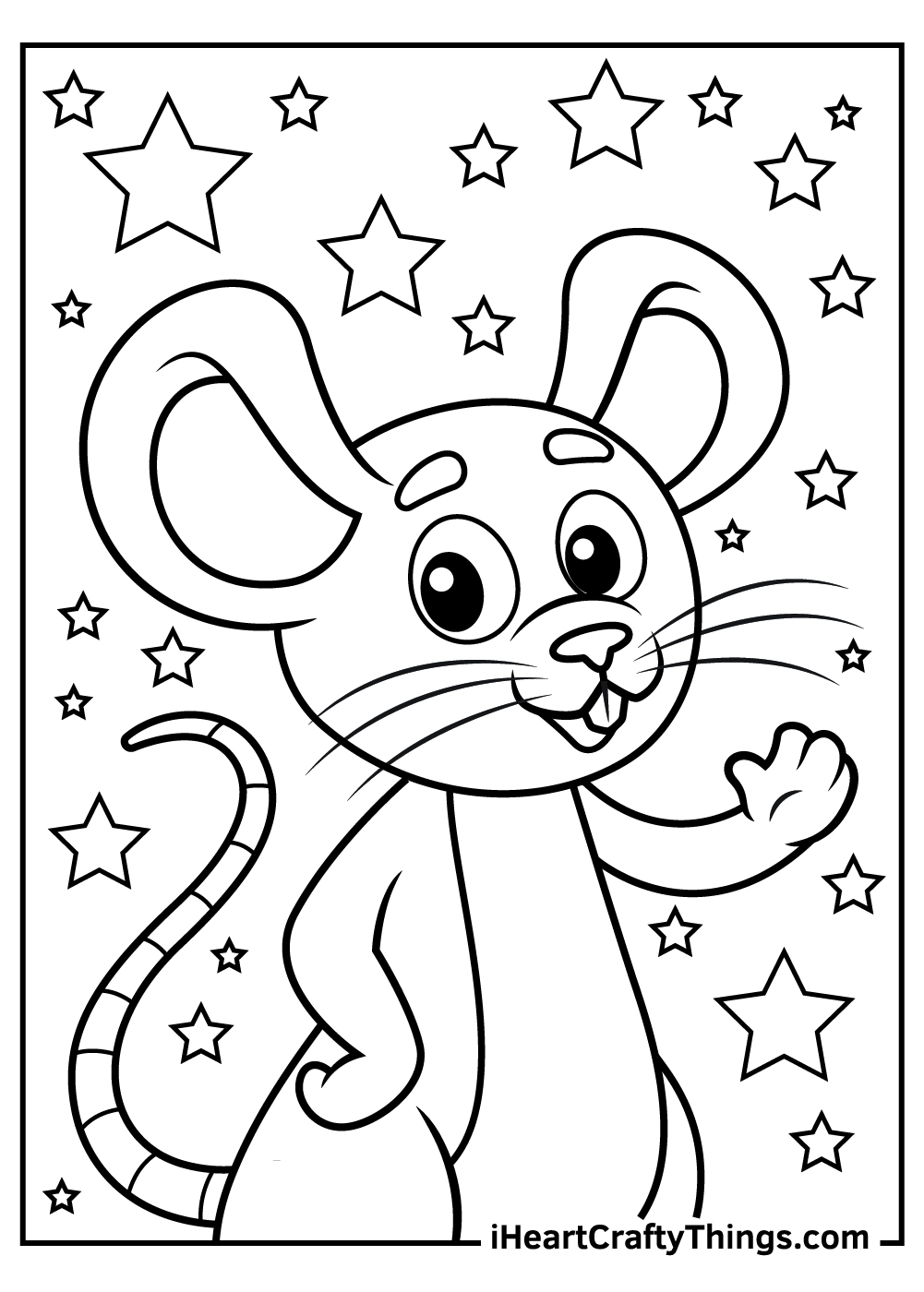 cute mouse coloring pages free printable