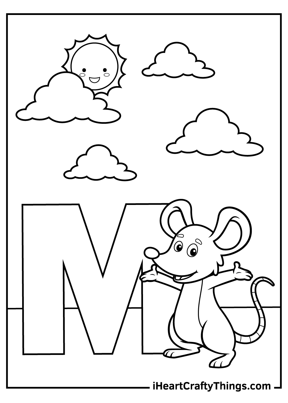 m is for mouse coloring pages free download