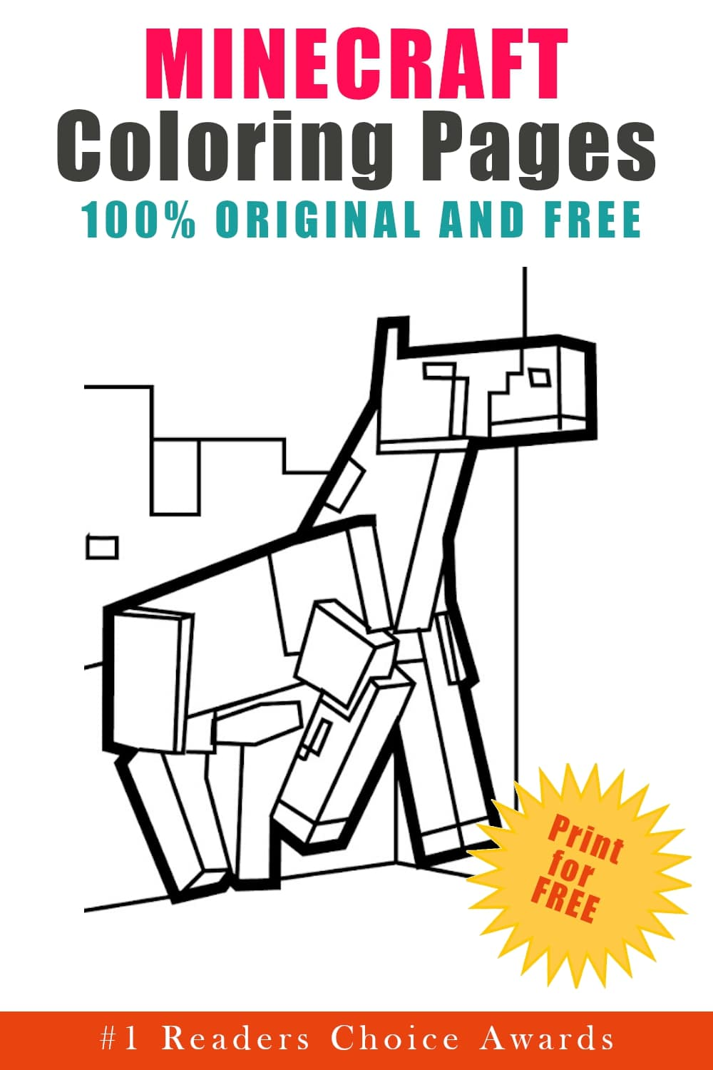 original and free minecraft coloring pages