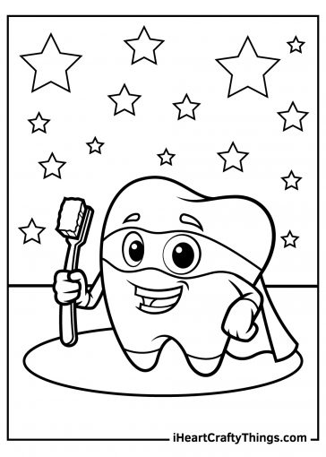 tooth coloring images free download