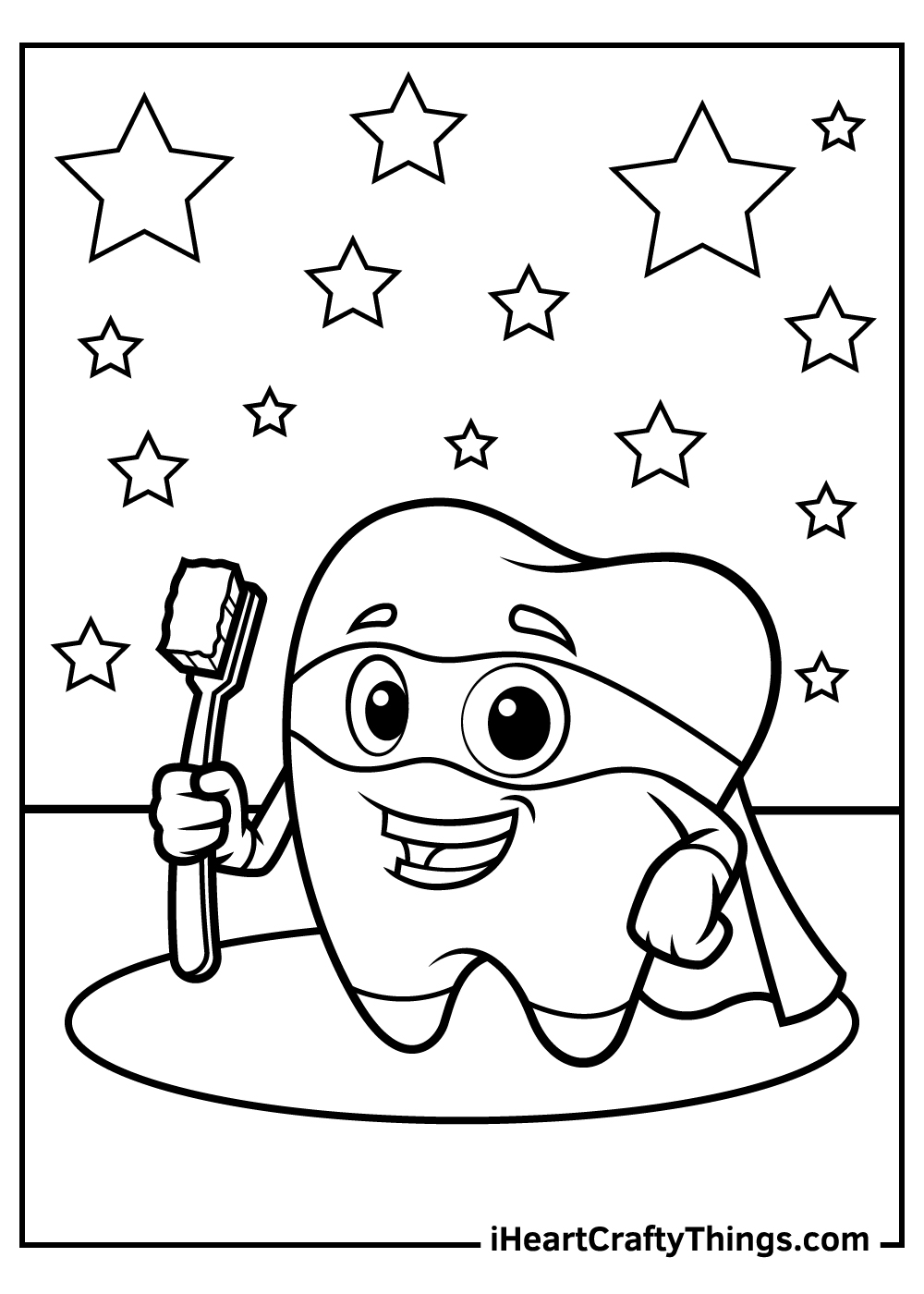 tooth coloring pages free printable