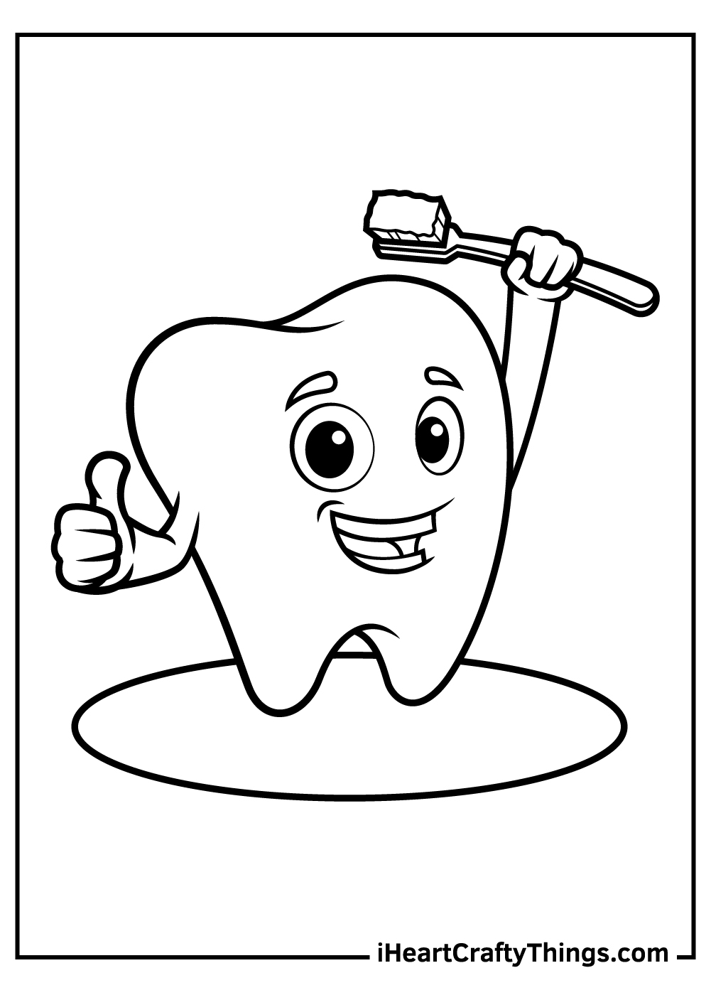 happy tooth coloring pages free download