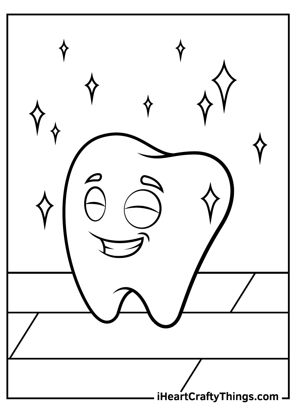 tooth coloring pages for preschoolers free printable