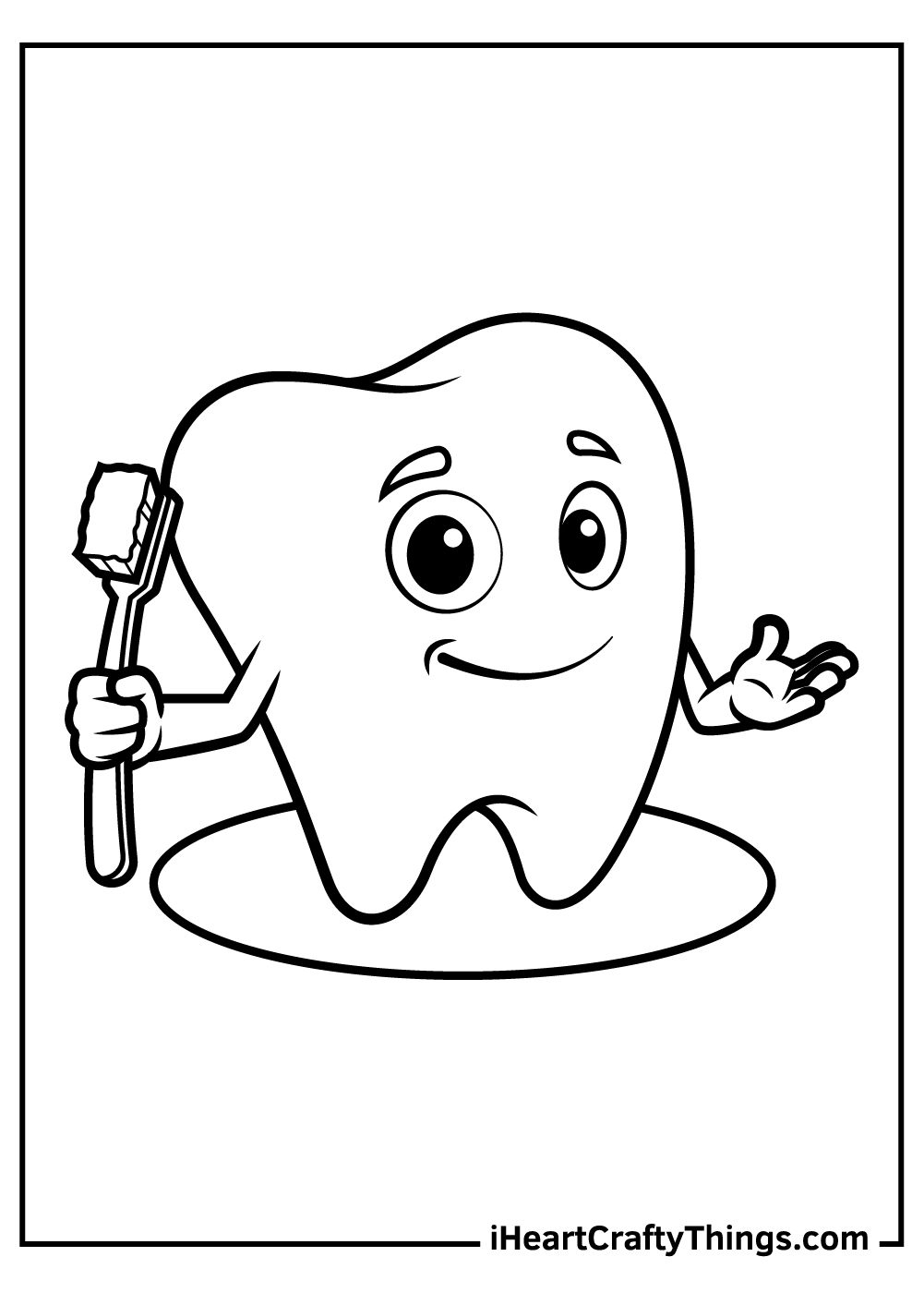 smiley tooth coloring pages free download