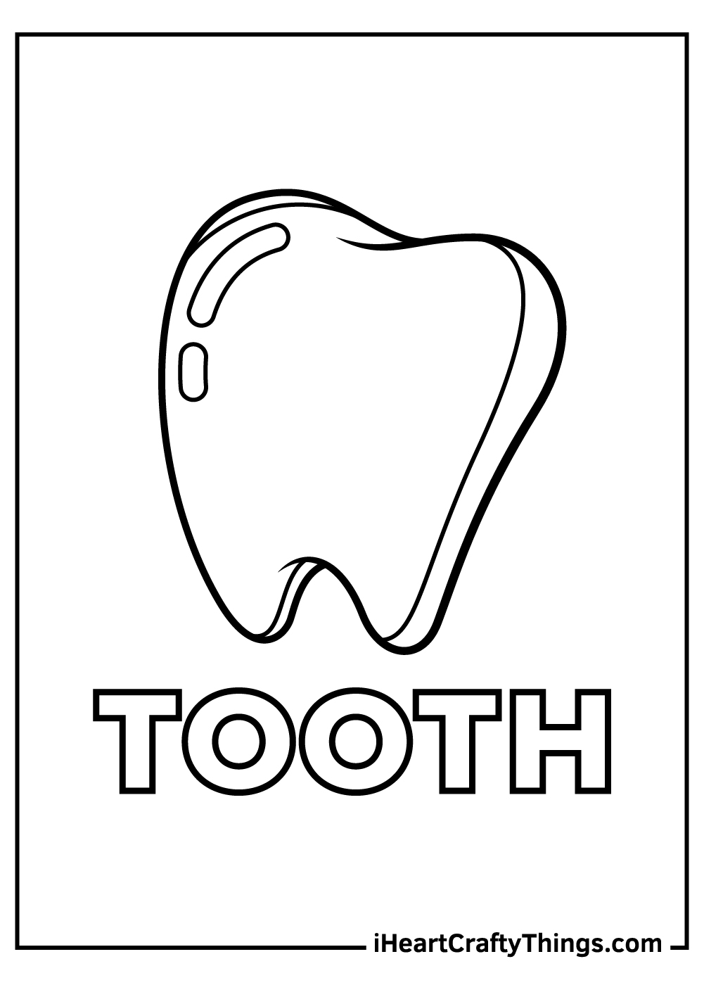 realistic tooth coloring pages free download