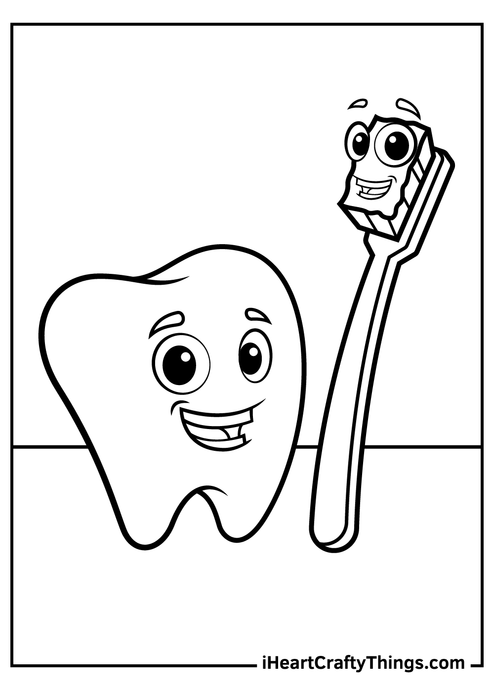 free printable tooth coloring pages