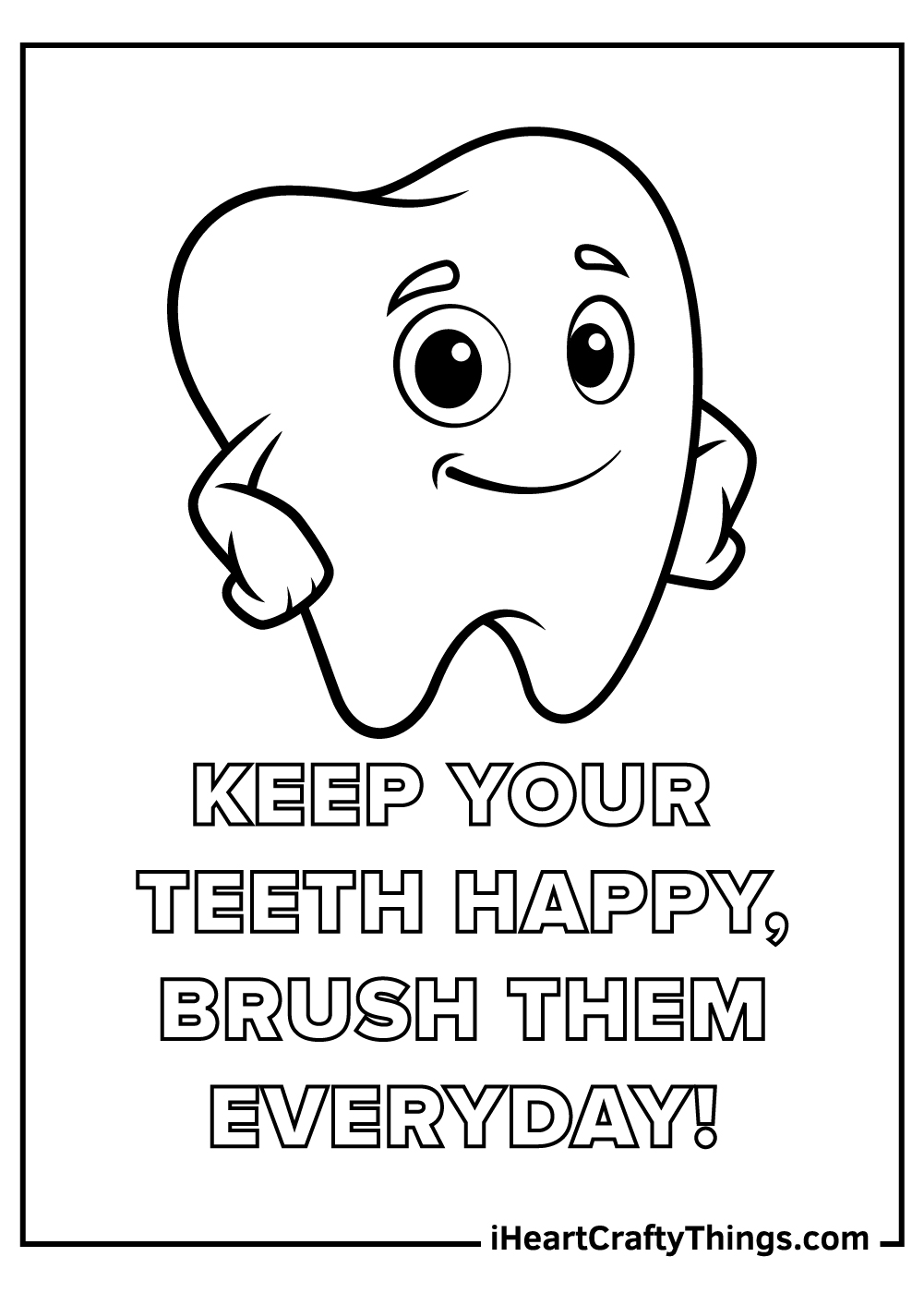brush your teeth coloring pages free printable