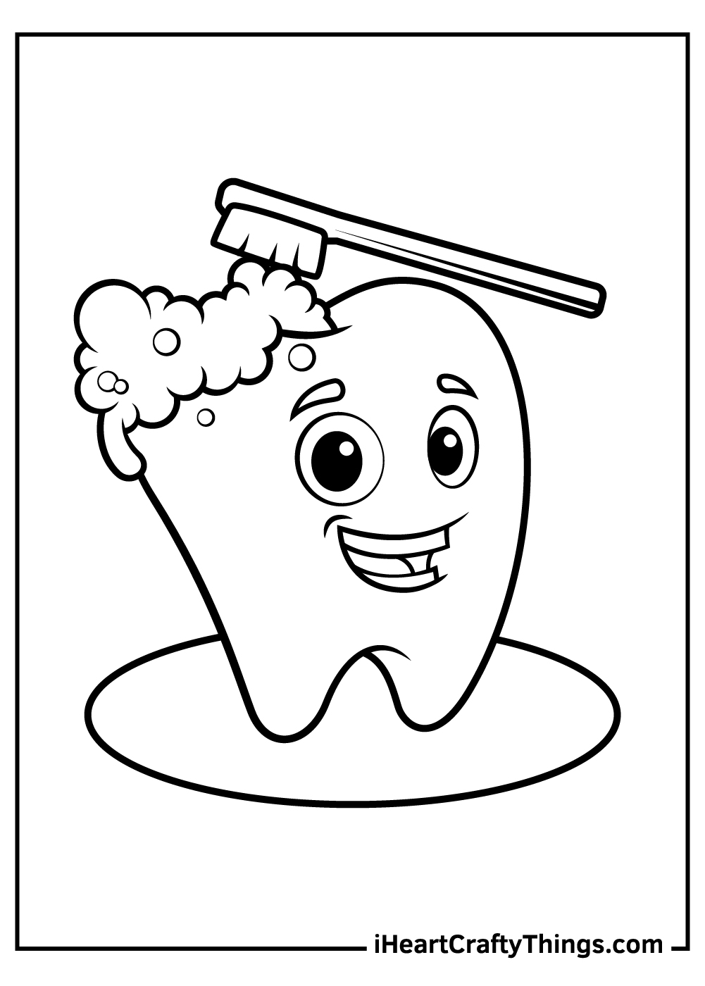 brush your teeth coloring pages free download for kids
