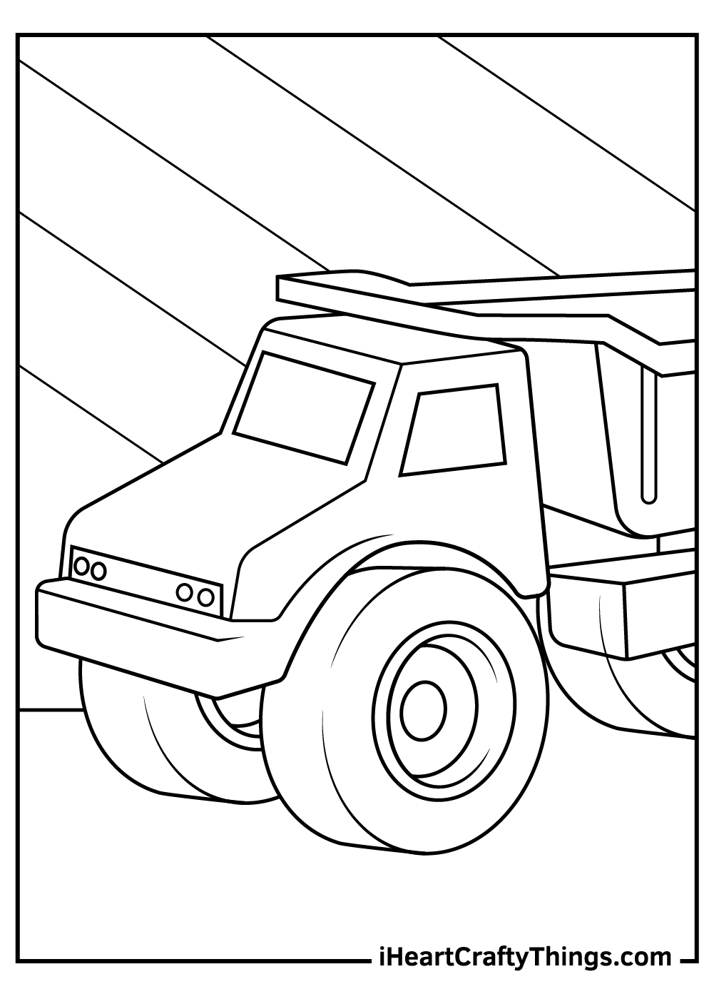 construction truck coloring pages free download