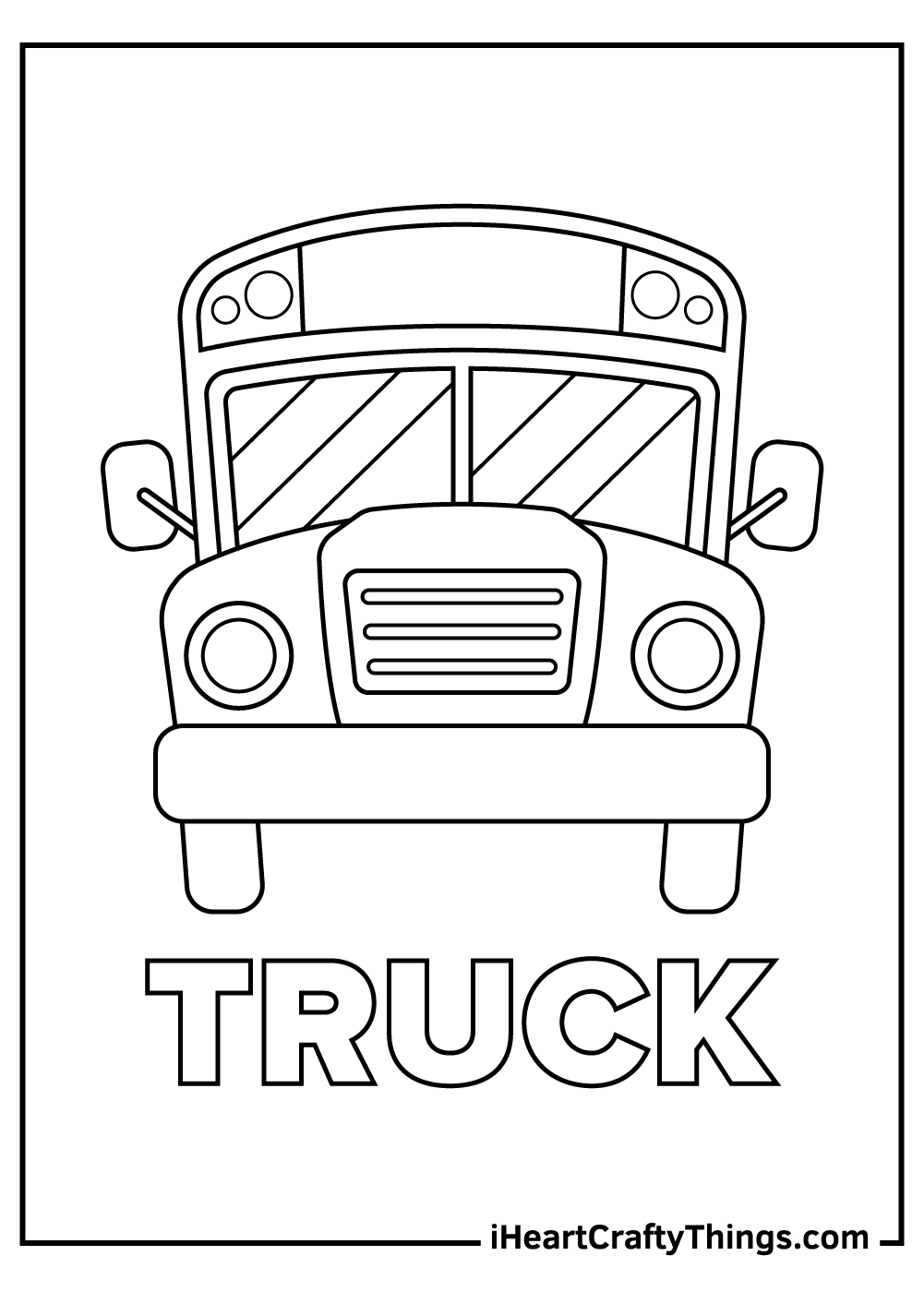 printable old truck coloring pages