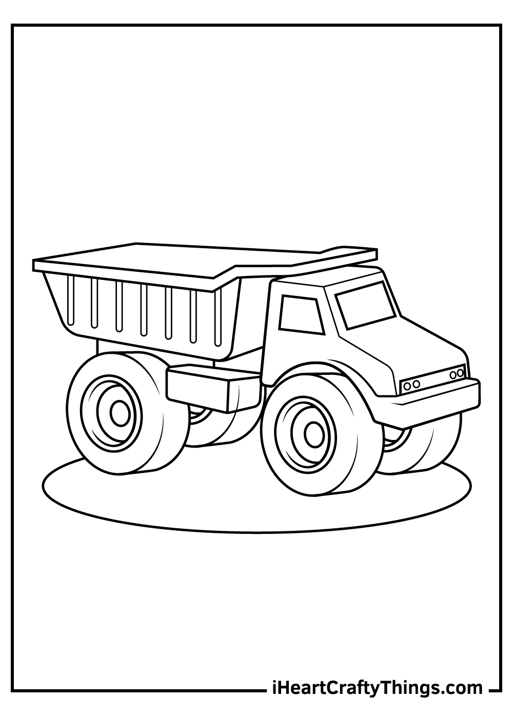 toy truck coloring pages for kids free download