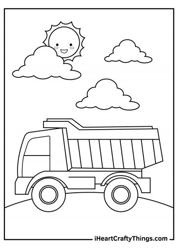 truck coloring images free pdf