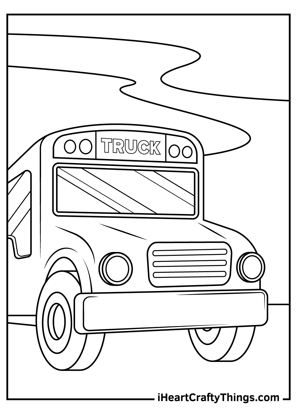 truck coloring pages for kids free printables