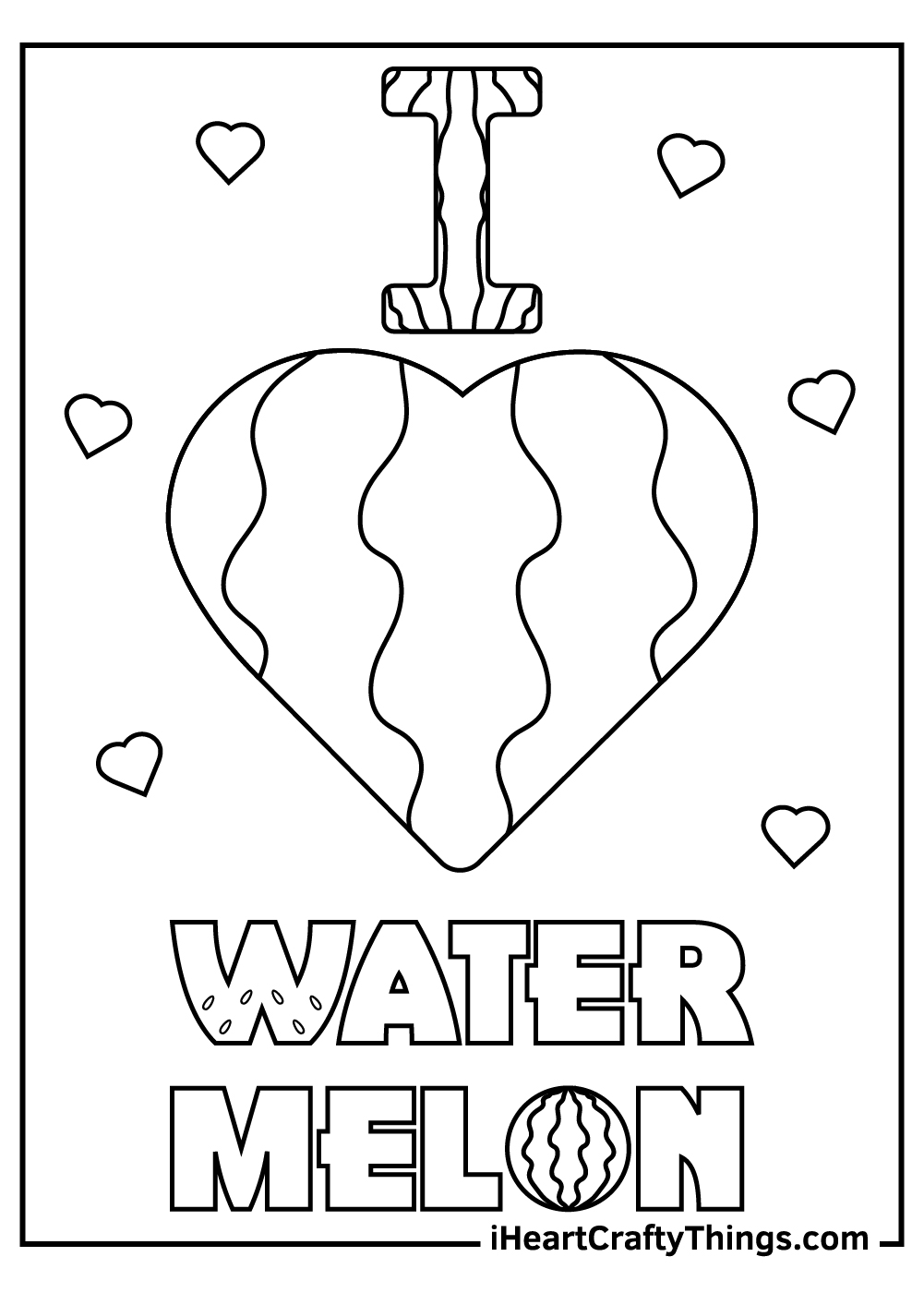 watermelon coloring pages for preschoolers free