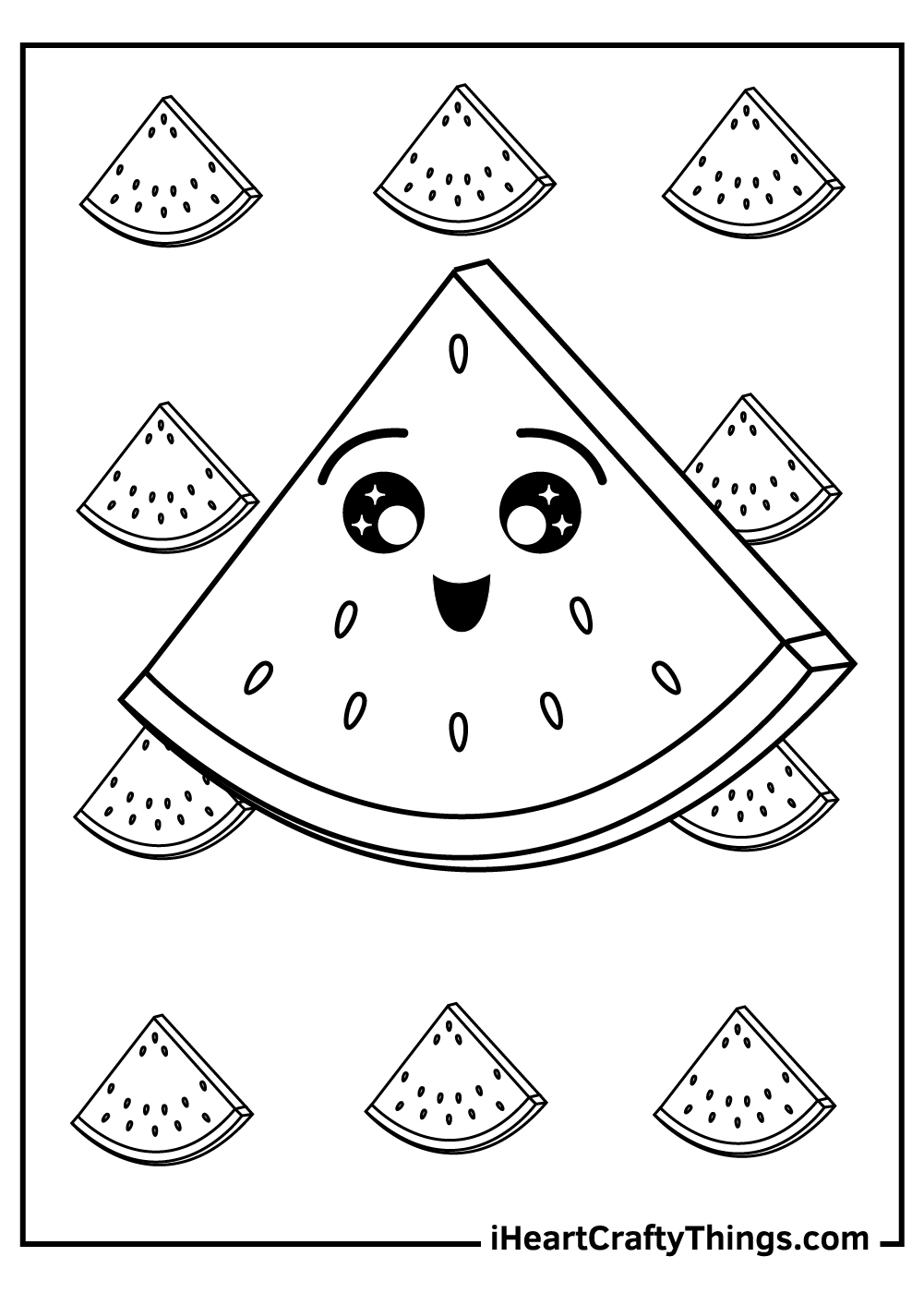 watermelon slice coloring pages free download