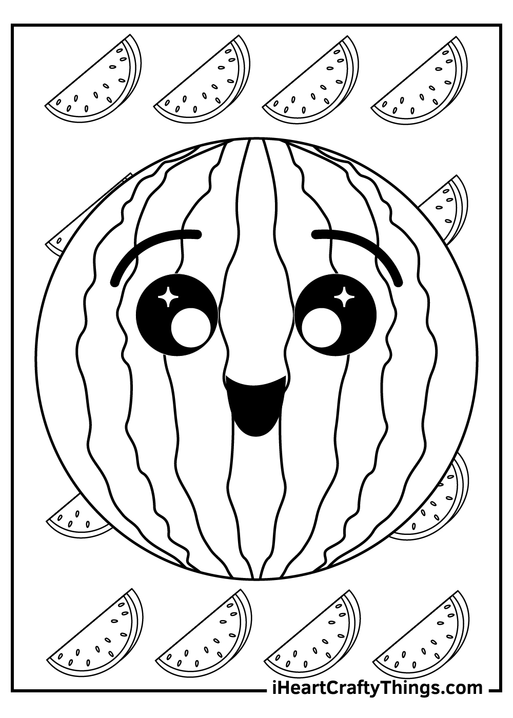 cute watermelon coloring pages free download