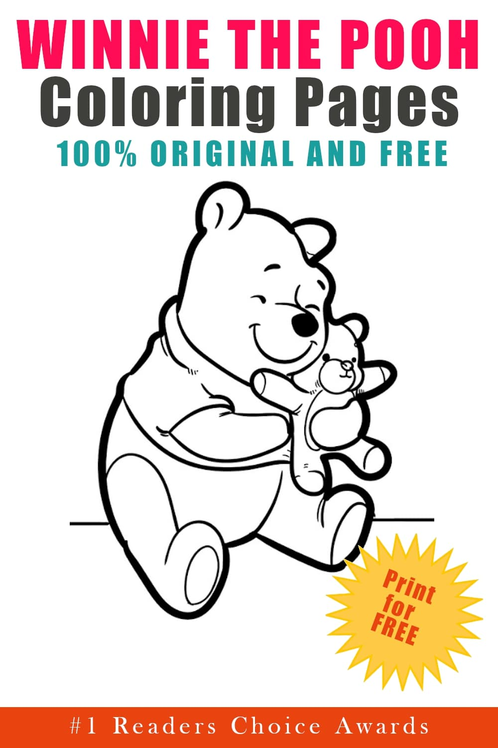 original and free winnie the pooh coloring pages