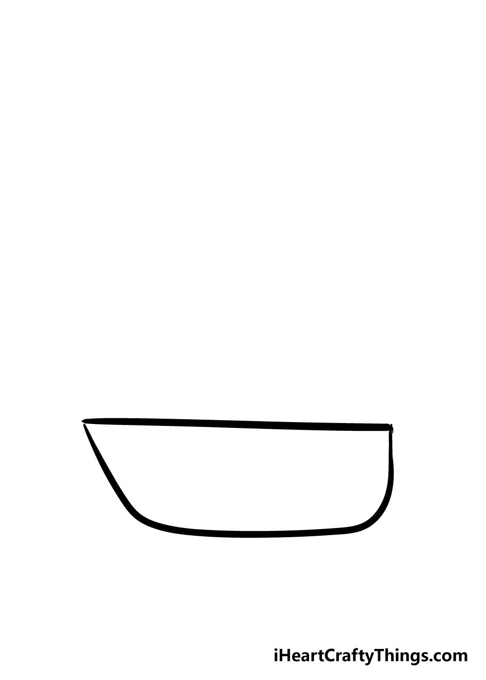 boat drawing step 1