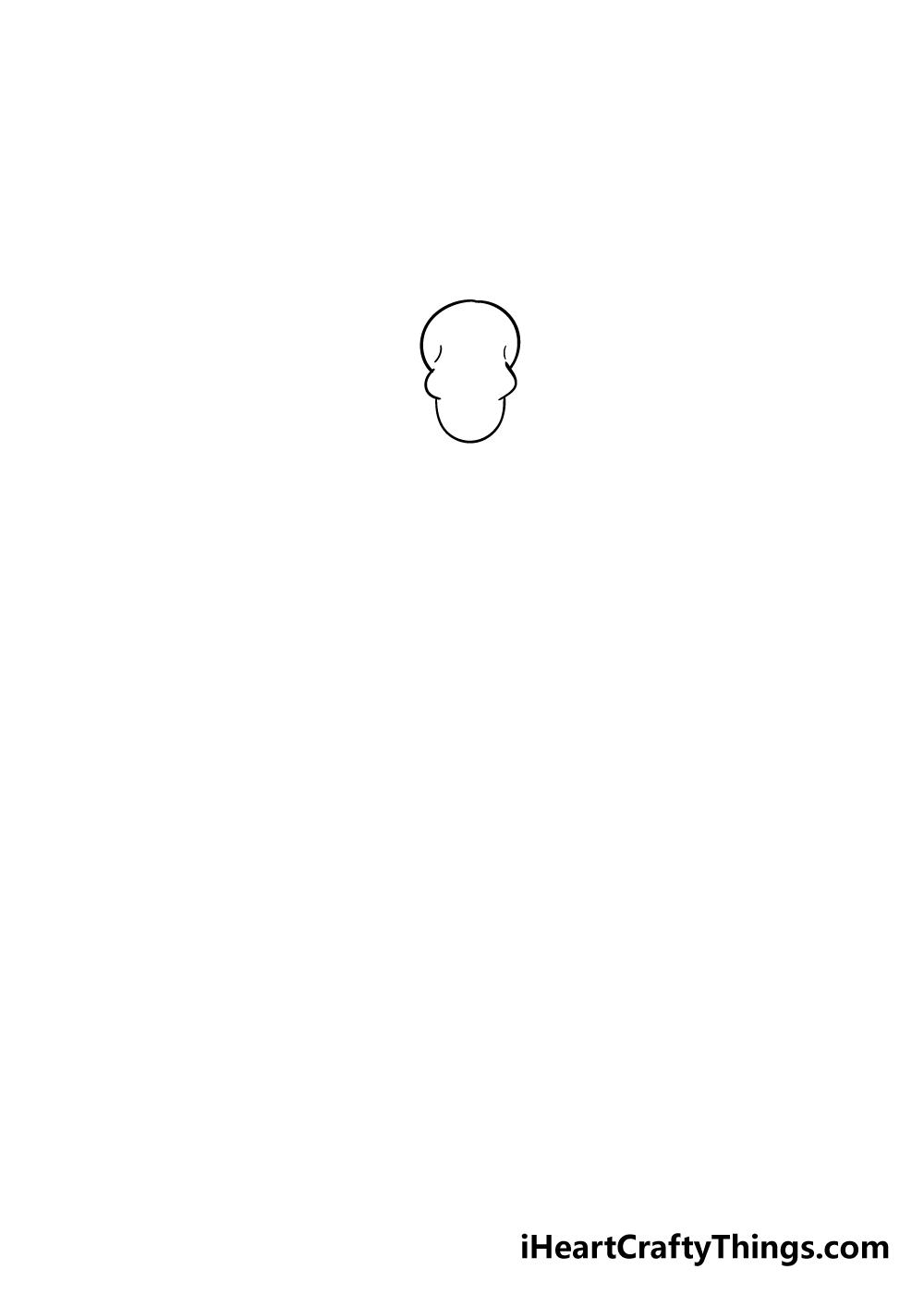 skeleton drawing step 1