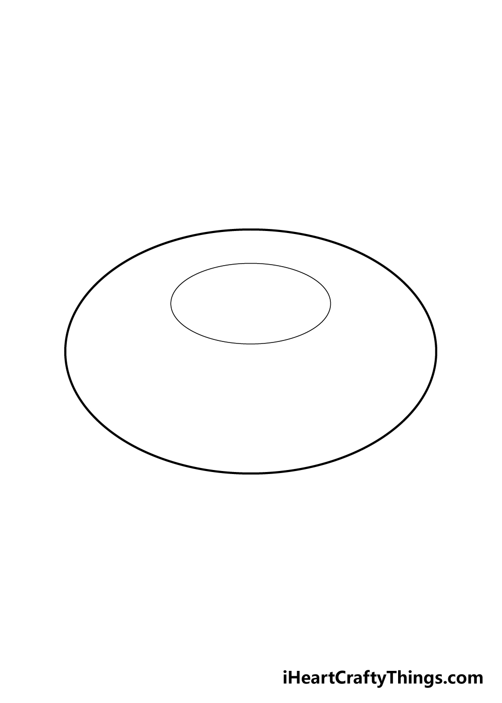 donut drawing step 1