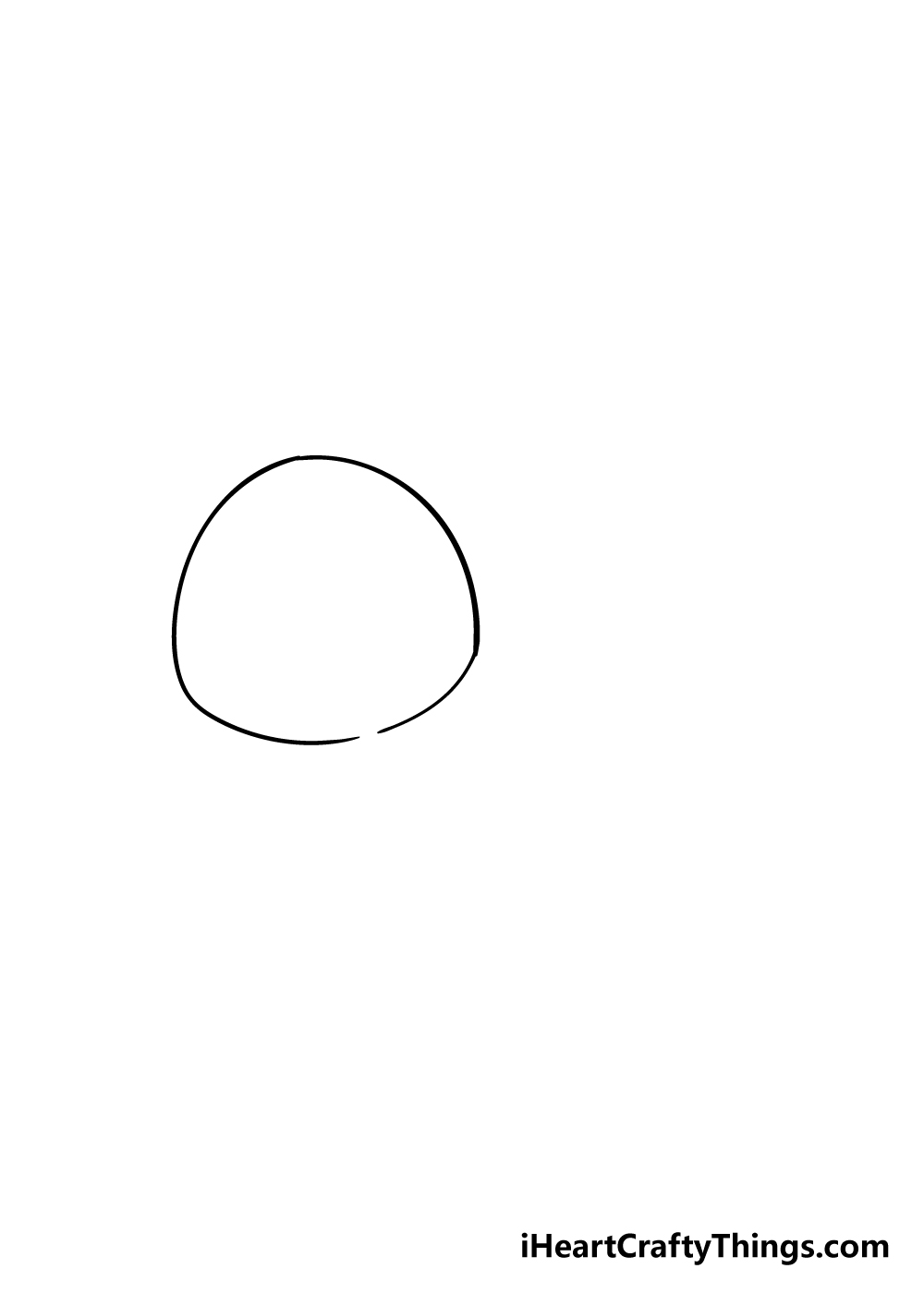 sloth drawing step 1