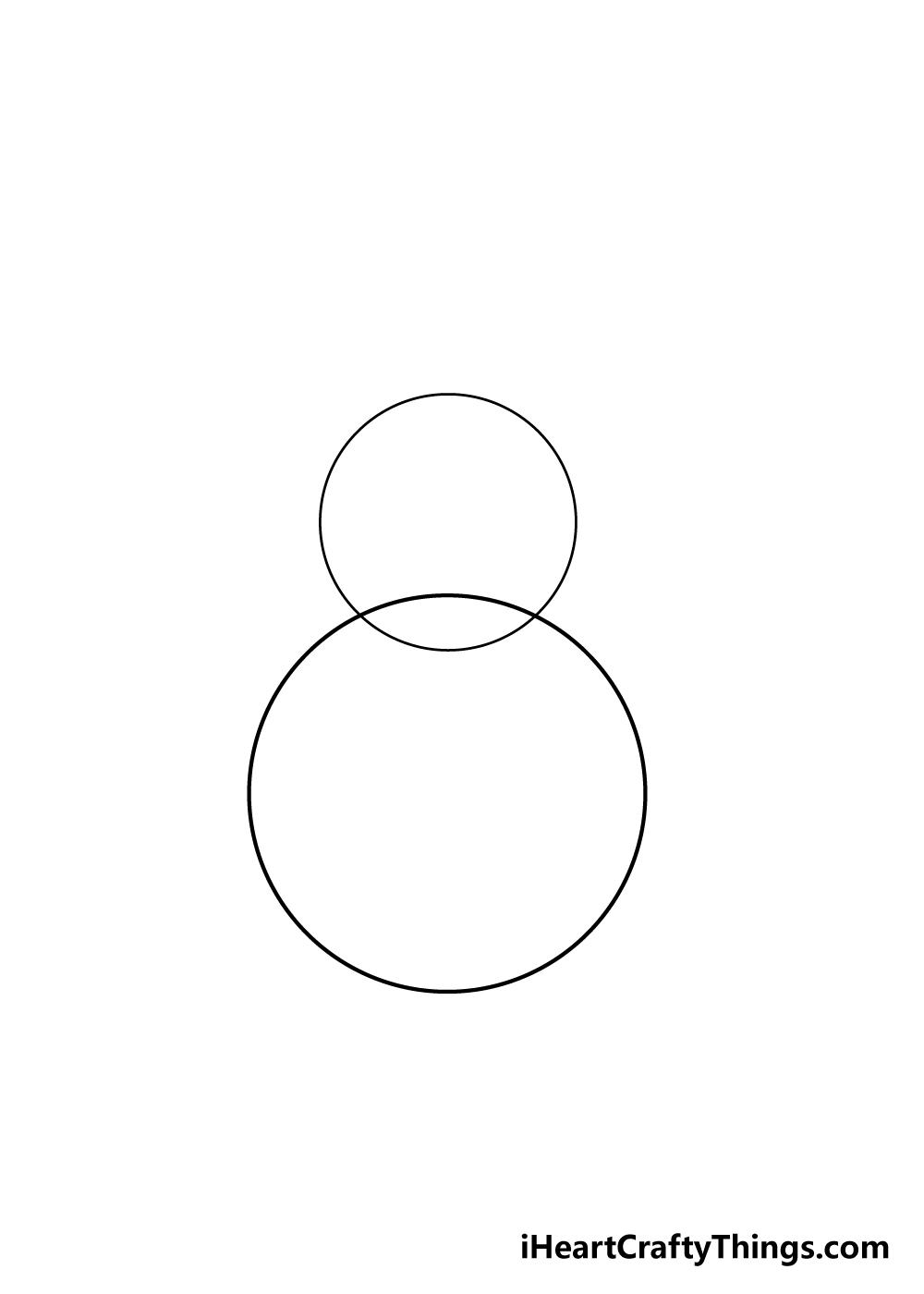 snowman drawing step 1