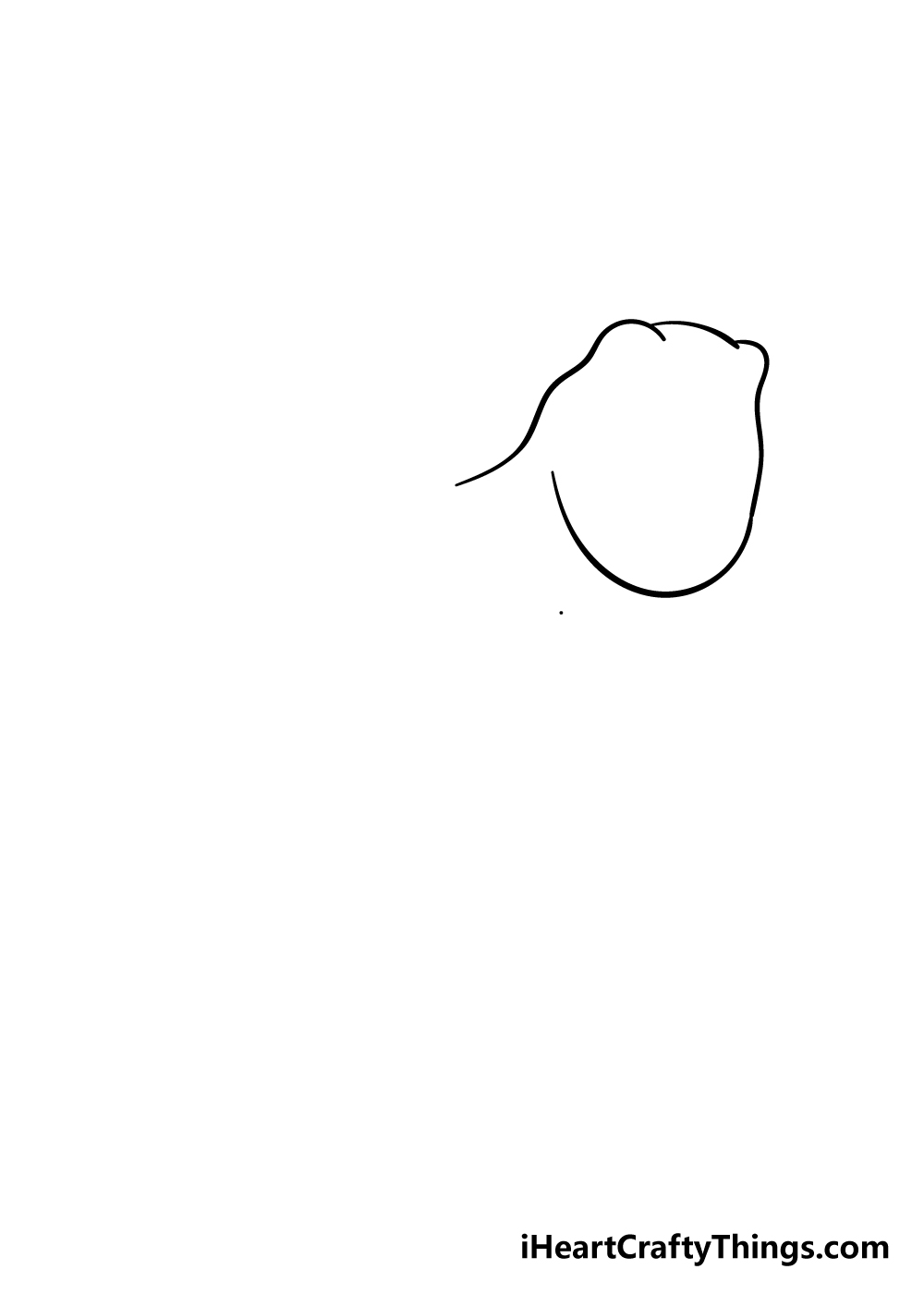 t-rex drawing step 1