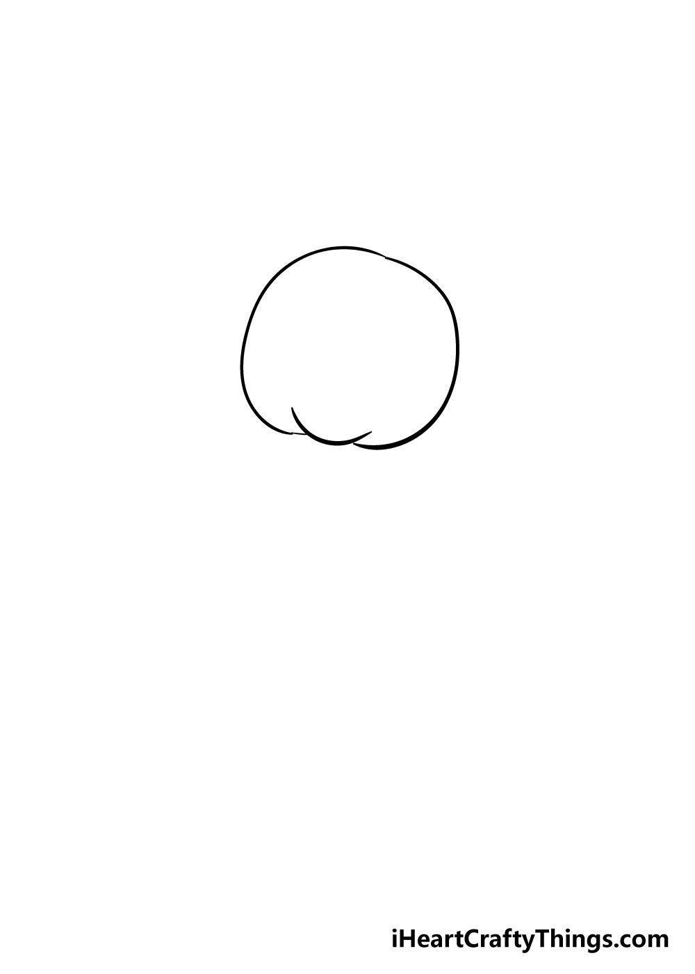 teddy bear drawing step 1