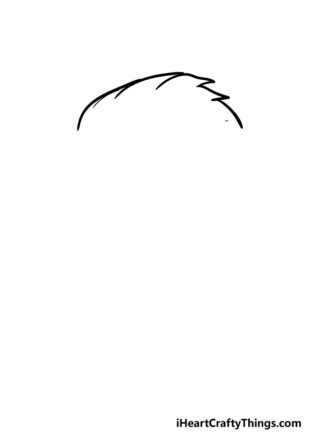 boy's hair drawing step 1