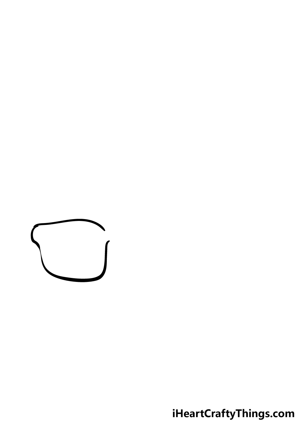 glasses drawing step 1