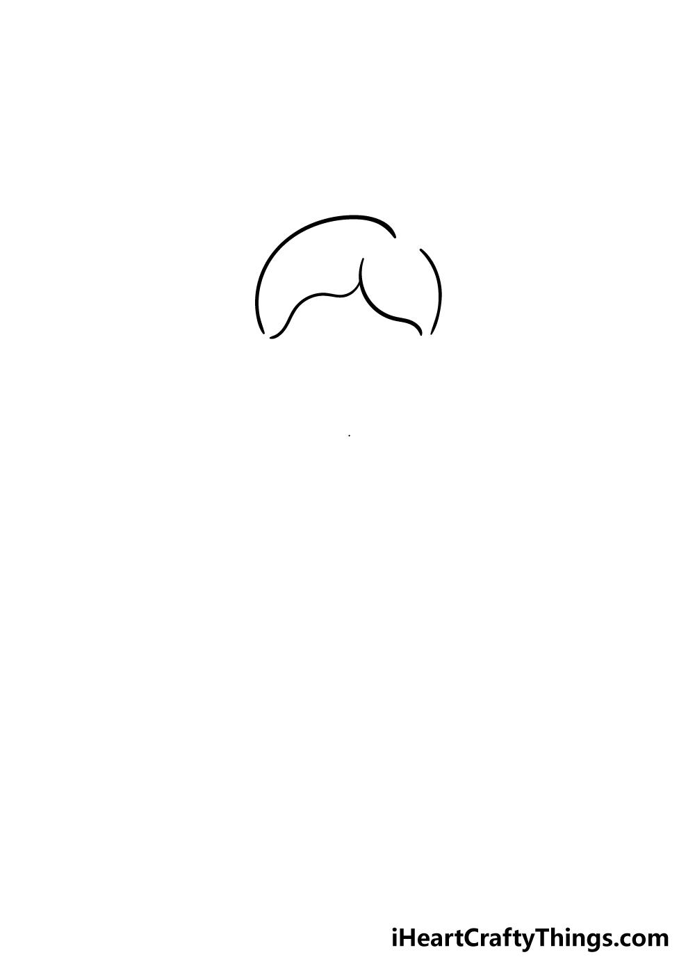 cartoon girl drawing step 1