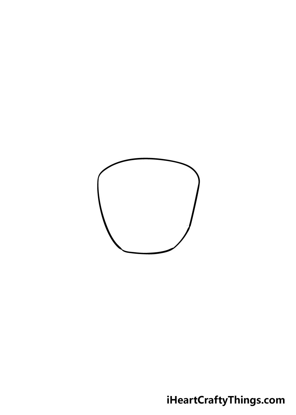 coffee cup drawing step 1