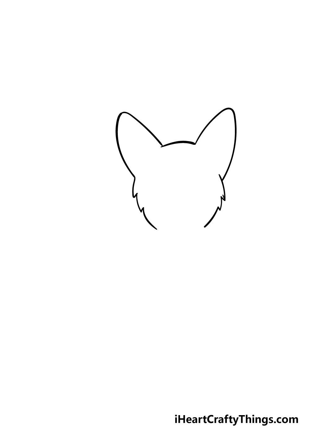 corgi drawing step 1