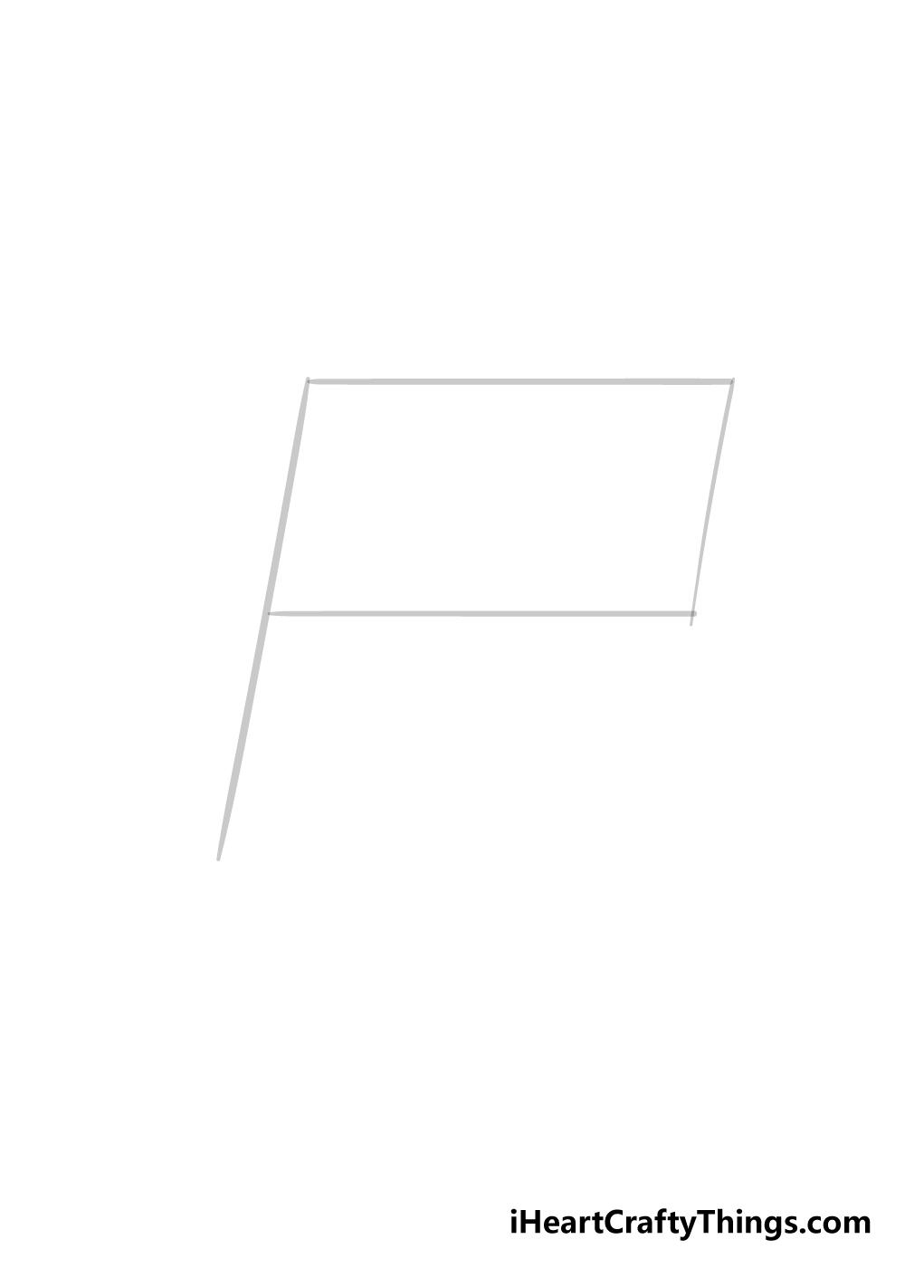 flag drawing step 1
