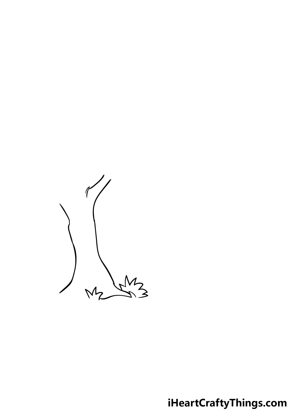 forest drawing step 1