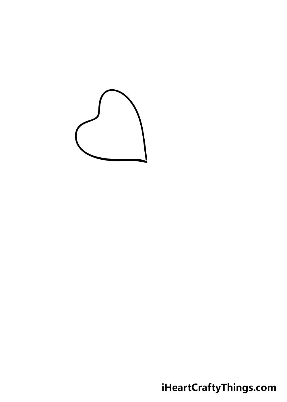 drawing four-leaf clover step 1