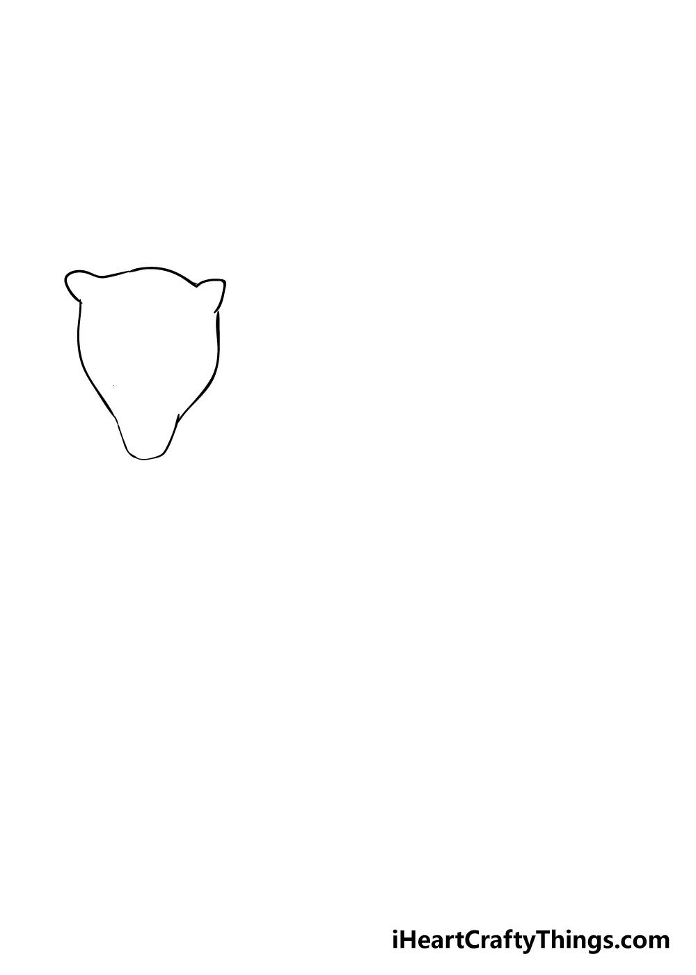 jaguar drawing step 1