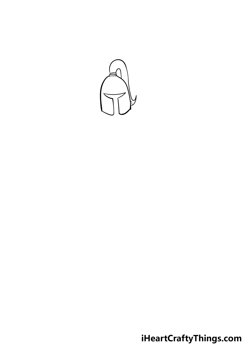 knight drawing step 1