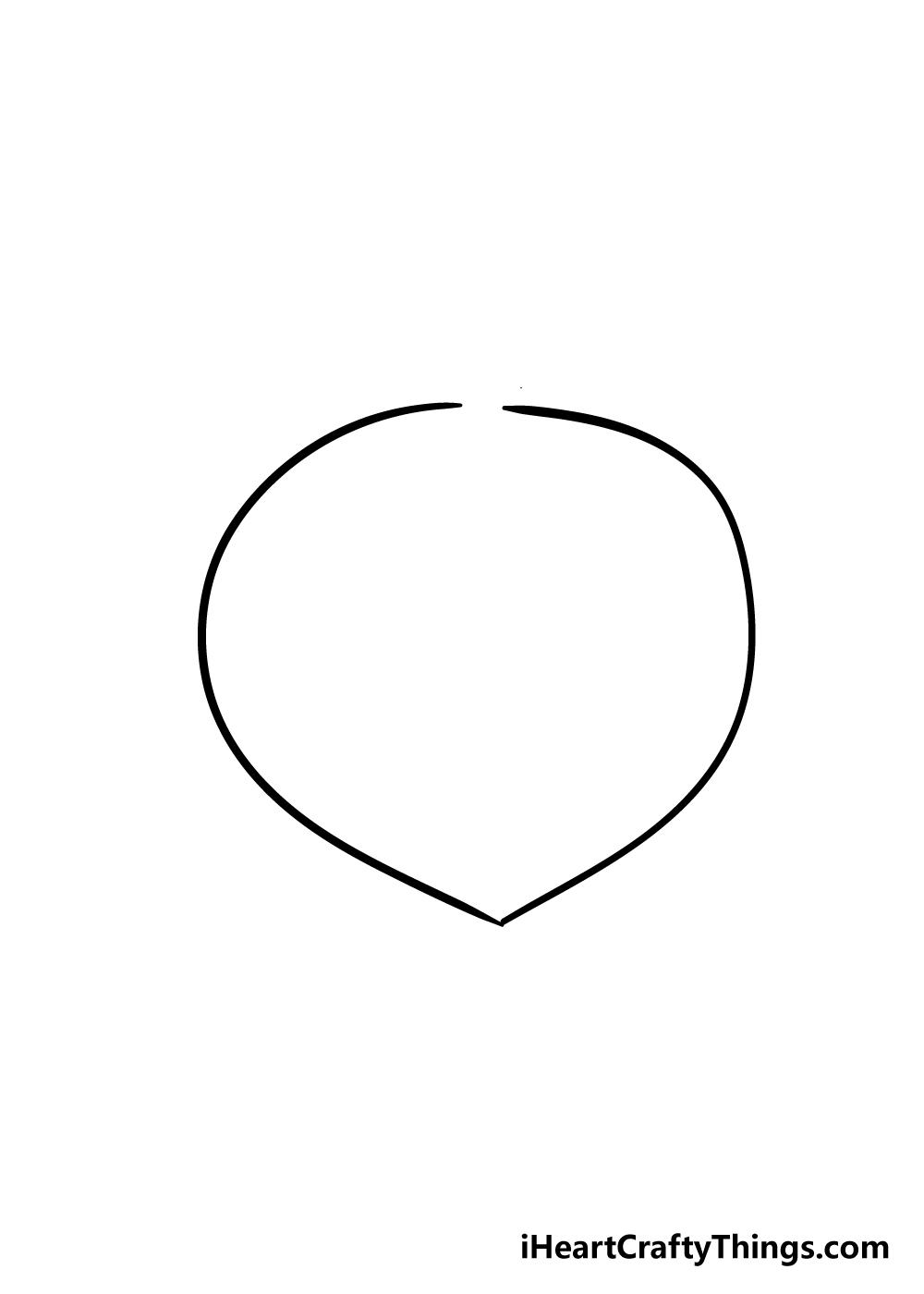 peach drawing step 1
