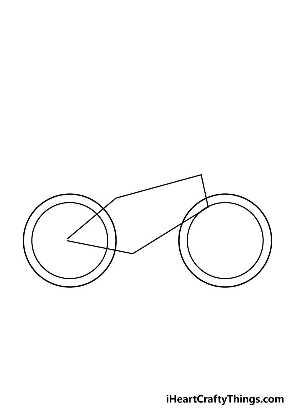 bike drawing step 1