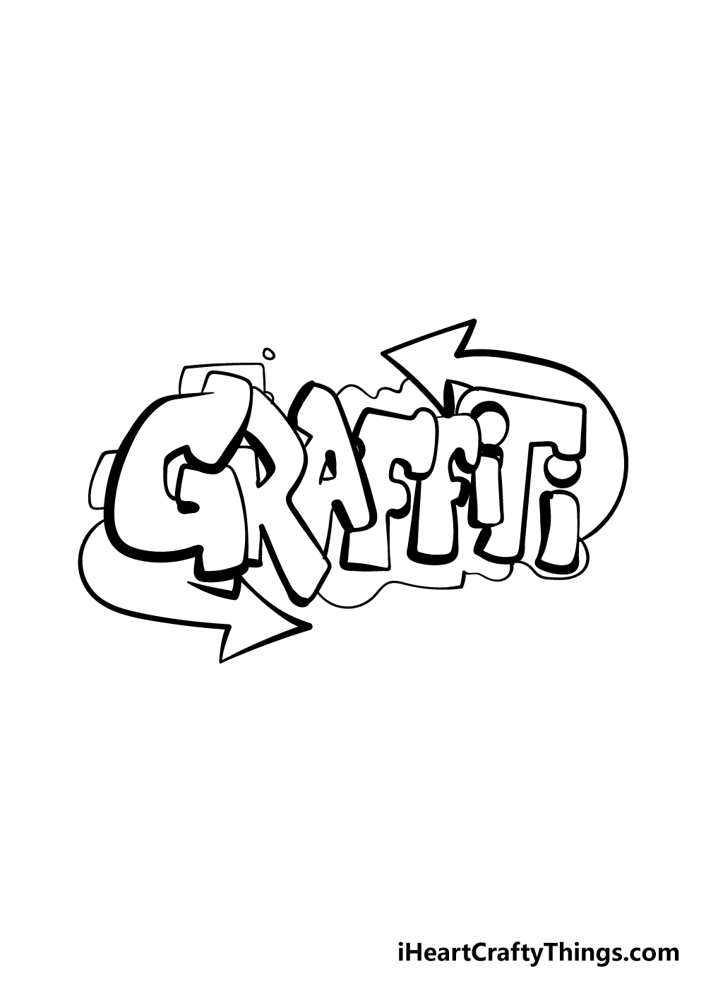 graffiti drawing step 10