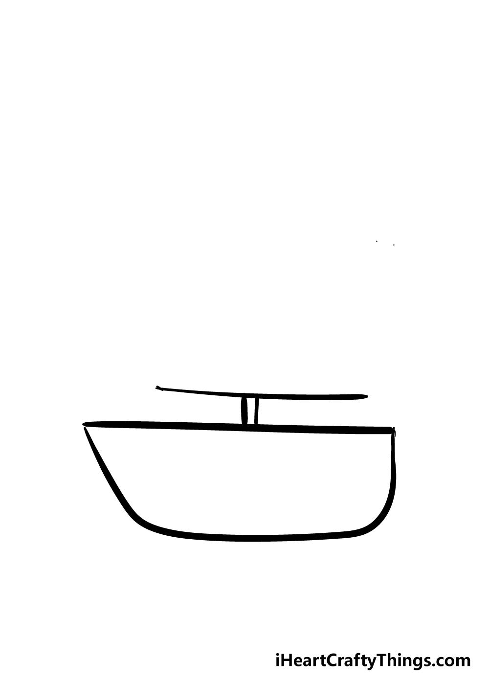boat drawing step 2