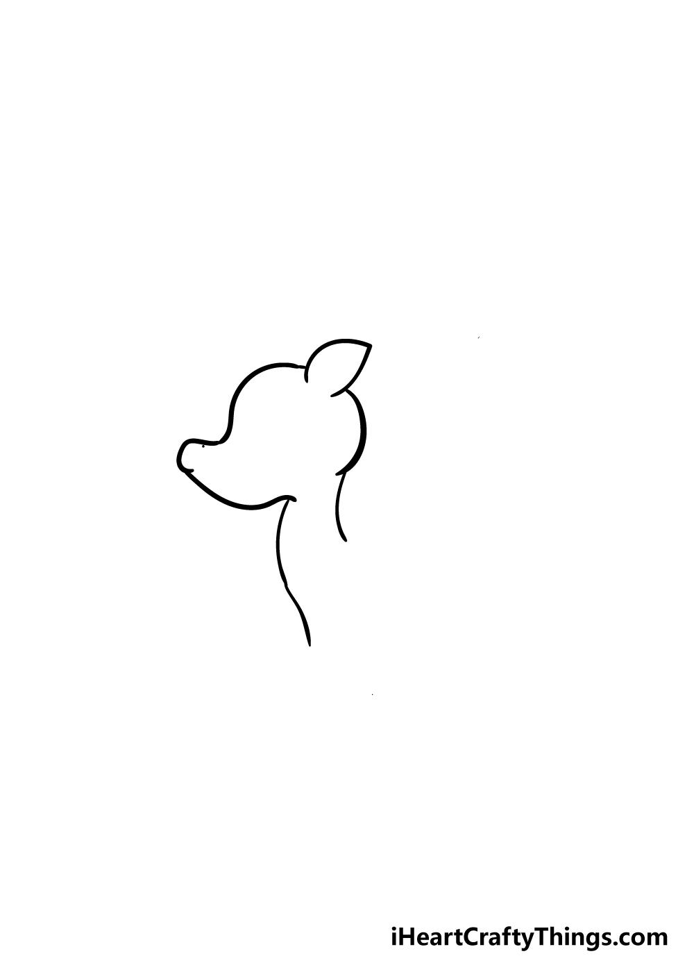 reindeer drawing step 2