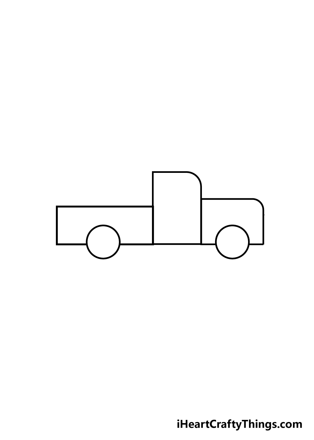 truck drawing step 2